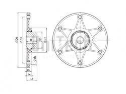 Муфта Sitex FL GDF42/48FL6-1/2 Пластмасовий фланец - фото 3