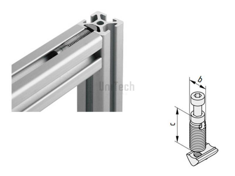 Профиль станочный 5 набор автоматического крепления (оцикованый)