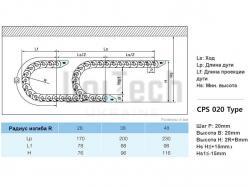 Кабелеукладчик CPS020.20.R28/B2 основа - фото 10