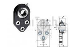 Корпус подшипника UCFB205 без защитной крышки D=25mm