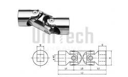 Шарнир кардановый SGOD082Q KCSD d=8 D=16 L=62 1000 1/min квадратное отверстие