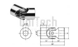 Шарнир кардановый SGBS1000 KCS d=10 D=16 L=52 1000 1/min