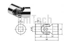 Шарнир кардановый SGOS062Q KCS d=6 D=16 L=34 1000 1/min квадратное отверстие