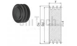 Шкив клиновой SPA 100/3 под расточку D=15-37