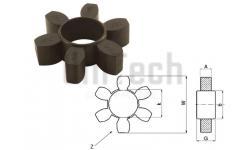 Муфта HRC070 упругий элемент (6 лепестков)