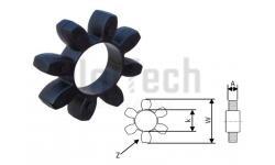 Муфта кулачковая  19/24 упругий элемент Черный (6 Лепестков) D: 40mm