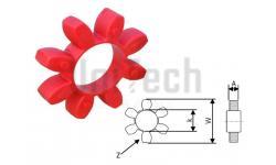 Муфта кулачковая  19/24 упругий элемент Красный  (6 Лепестков) D: 40mm