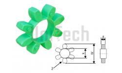 Муфта кулачковая  19/24 упругий элемент Зеленый  (6 Лепестков) D: 40mm