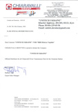 Сертификат CHIARAVALLI