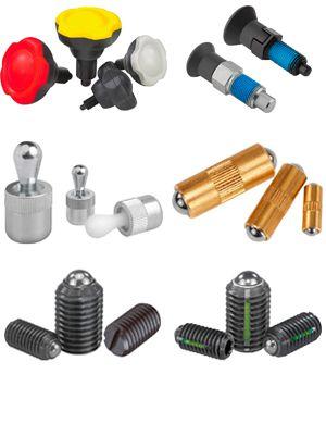 Пружинные фиксаторы, стопорные штифты, блокировочные шаровые болты