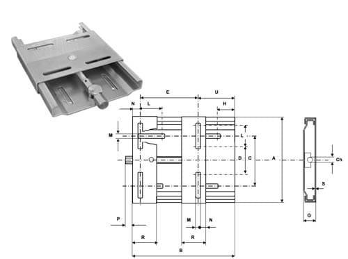 салазки для электродвигателя