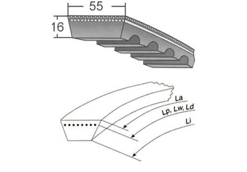 ремень вариаторный 55х16