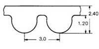 ремень зубчатый в погонных метрах полиуретановый HTD-3M