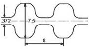 ремень зубчатый двусторонний метрический неопреновый STD-S8m