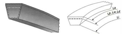 ремень клиновой узкого профиля