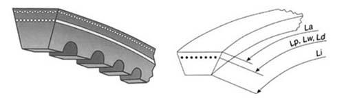 ремень клиновой узкого профиля зубчатый
