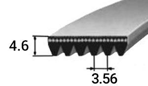 Поликлиновый ремень тип PK