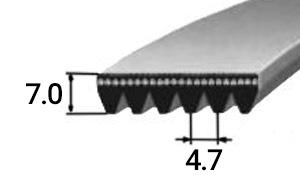 Поликлиновый ремень тип PL