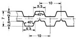 ремень зубчатый двусторонний метрический полиуретановый T10