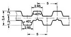 ремень зубчатый двусторонний метрический полиуретановый T5