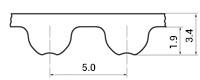 ремень зубчатый метрический неопреновый HTD-5M