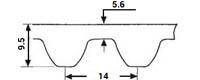 ремень зубчатый метрический неопреновый HTD-14M