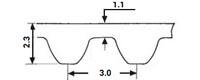 ремень зубчатый метрический неопреновый HTD-3M