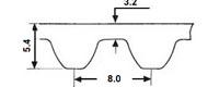 ремень зубчатый метрический неопреновый HTD-8M