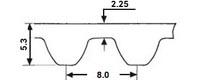 ремень зубчатый метрический неопреновый STD-S8M