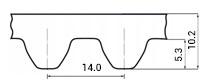 ремень зубчатый метрический неопреновый STD-14M