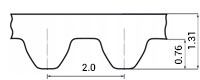 ремень зубчатый метрический неопреновый STD-S2M