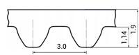 ремень зубчатый метрический неопреновый STD-S3M