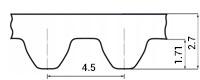 ремень зубчатый метрический неопреновый STD-4,5M