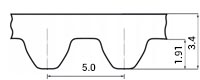 ремень зубчатый метрический неопреновый STD-S5M