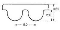 ремень зубчатый в погонных метрах полиуретановый HTD-5M