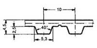 ремень зубчатый в погонных метрах полиуретановый T10