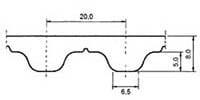 ремень зубчатый в погонных метрах полиуретановый T20