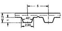 ремень зубчатый в погонных метрах полиуретановый T5