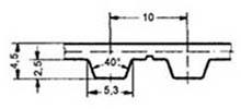 ремень зубчатый метрический полиуретановый T10