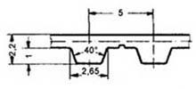 ремень зубчатый метрический полиуретановый T5