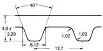 ремень зубчатый дюймовый H