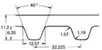 ремень зубчатый дюймовый XH
