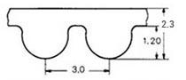 ремень зубчатый в погонных метрах неопреновый HTD-3M