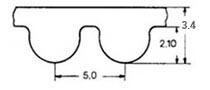 ремень зубчатый в погонных метрах неопреновый HTD-5M