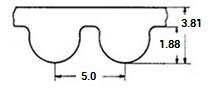 ремень зубчатый в погонных метрах неопреновый HTD-5MR