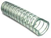ПВХ шланг напорно-всасывающий укрепленный стальной спиралью